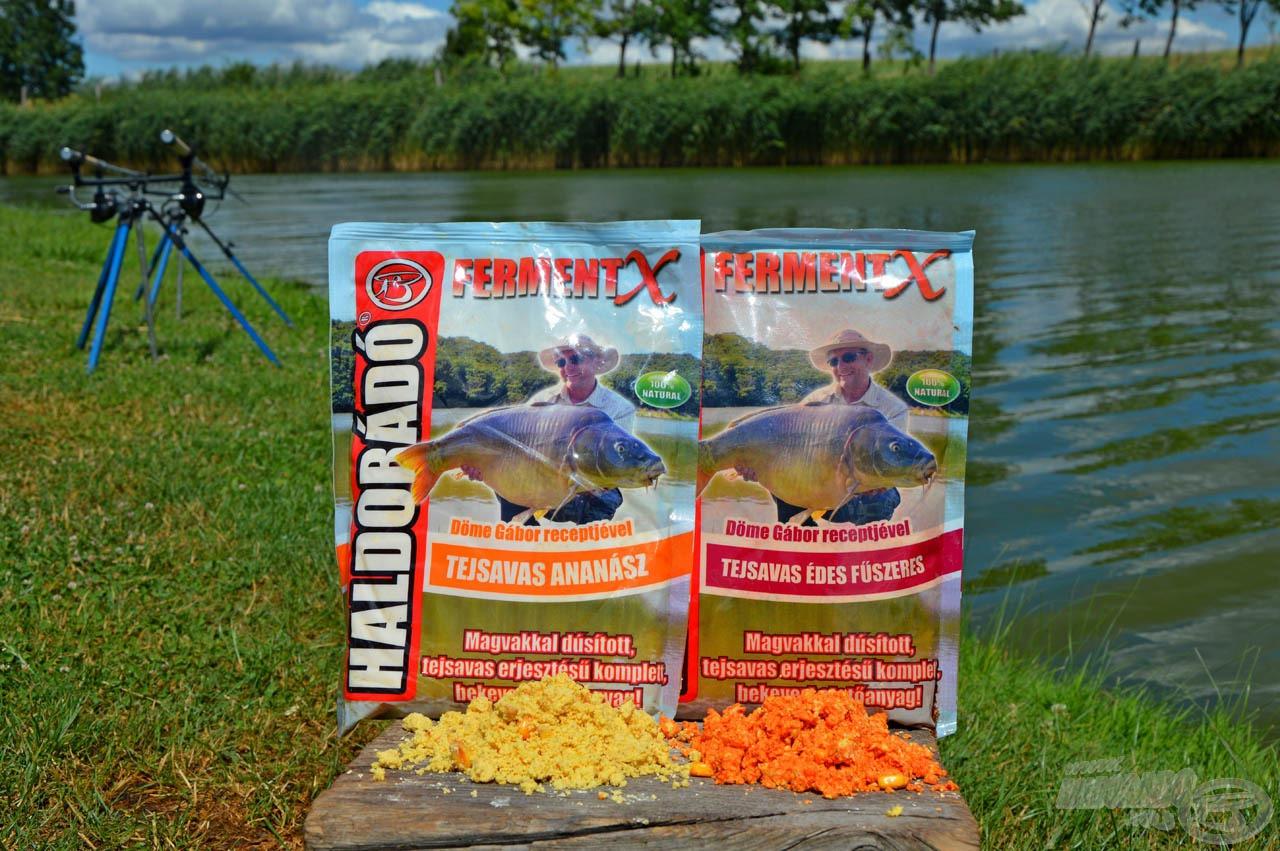 Ízesített FermentX etetőanyagok, amelyekre biztos rámozdul az etetésen portyázó amur