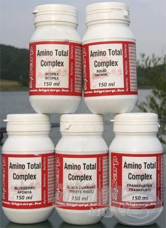 A főzött aprómagvakat még fogósabbá tehetjük, ha Amino Total Complexet adagolunk hozzá. Bár ez a folyékony alapanyag a bojlik egyik legfontosabb összetevője, nekem nagyon bevált az aprómagvak ízesítése során is. Az Amino Total Complexben található étvágygerjesztő stimulátorok folyamatos táplálkozásra ingerlik a pontyokat, az illatára pedig már messziről felfigyelhetnek