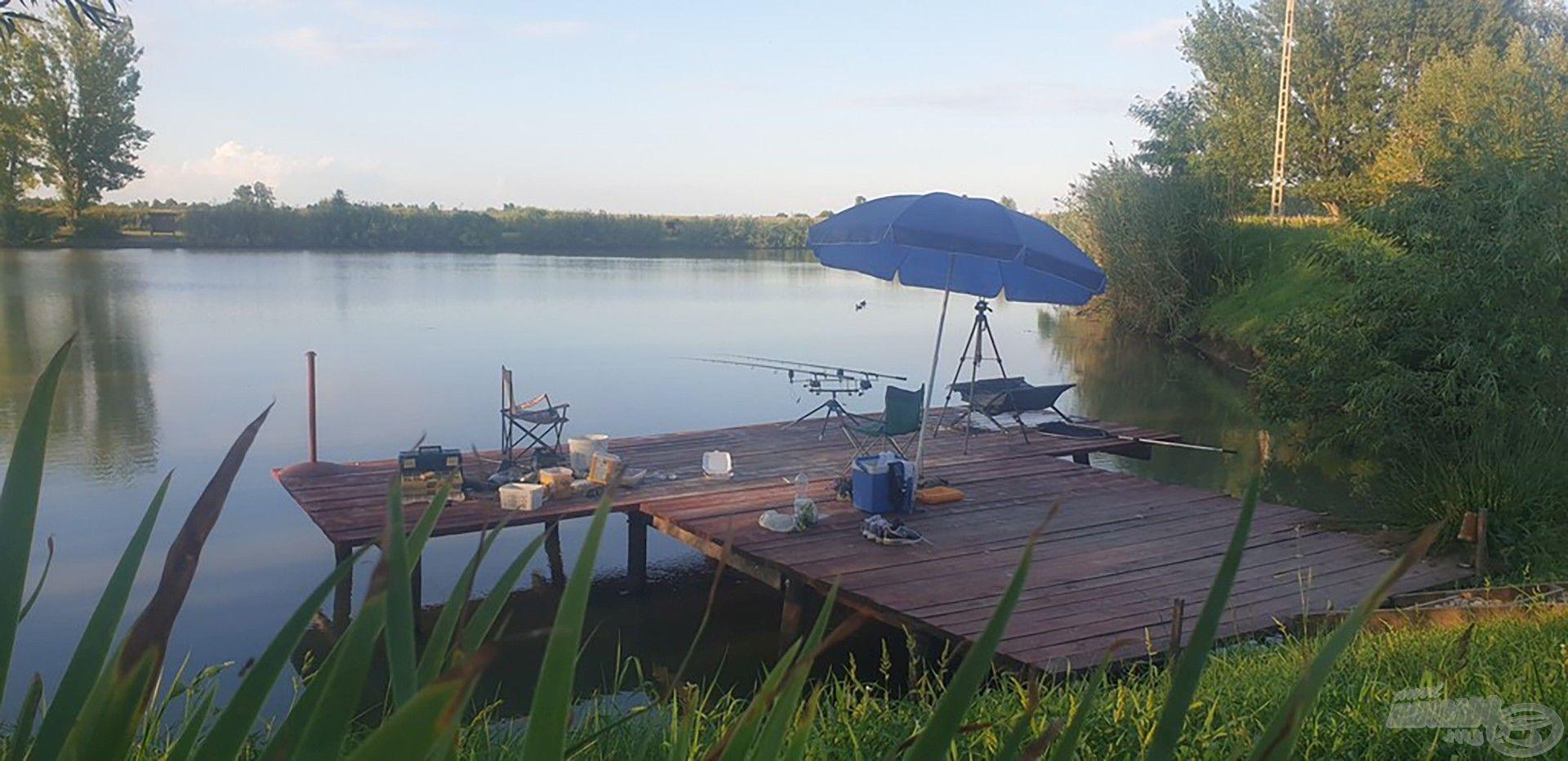 Íme, a horgászállásom