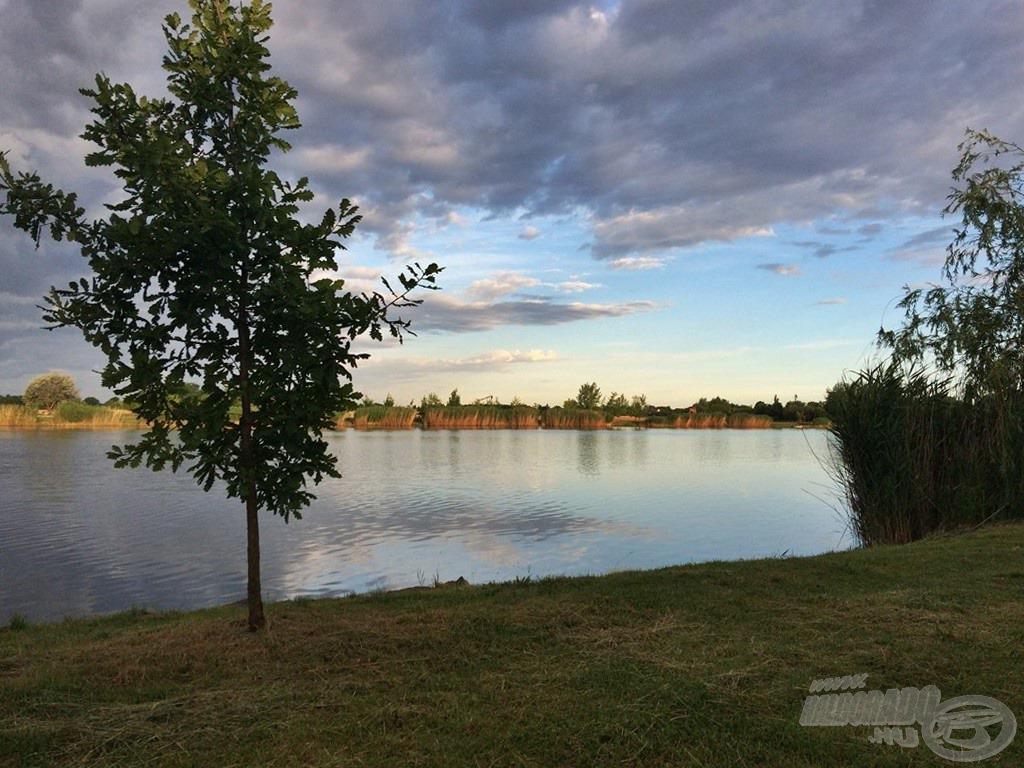 Hiába a nyári meleg és a szép idő, szinte üres volt a tó. Talán azért állt elő ez a helyzet, mert nem a legkönnyebb pálya, de hát valamit valamiért!