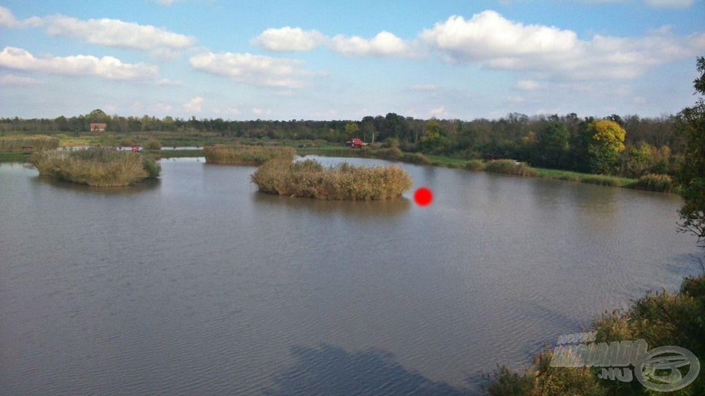 Piros ponttal jelöltem azt a helyet, ahova a nap folyamán horgászni fogok