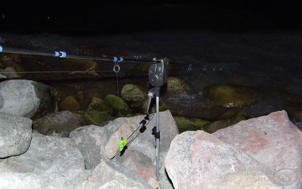 Az elektromos kapásjelző a parti horgászatok során tehet jó szolgálatot - feltéve, ha a nyeletőfék kellően finoman képes adagolni a zsinórt…