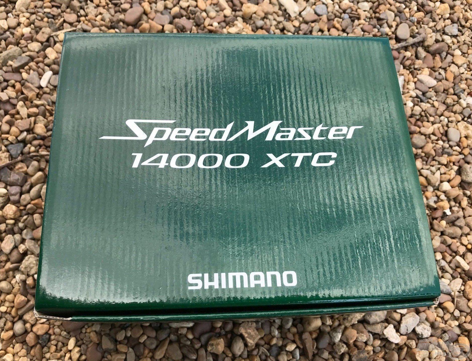 Shimano SpeedMaster 14000XTC még a dobozban pihen, de nem sokáig!