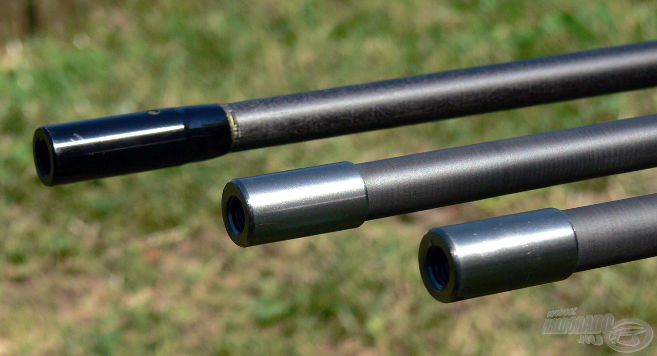 Gondos tervezés és kivitelezés jellemző a nyelek menetes adapterrel ellátott végeire is, amik minden esetben rozsdamentes acélból készültek!