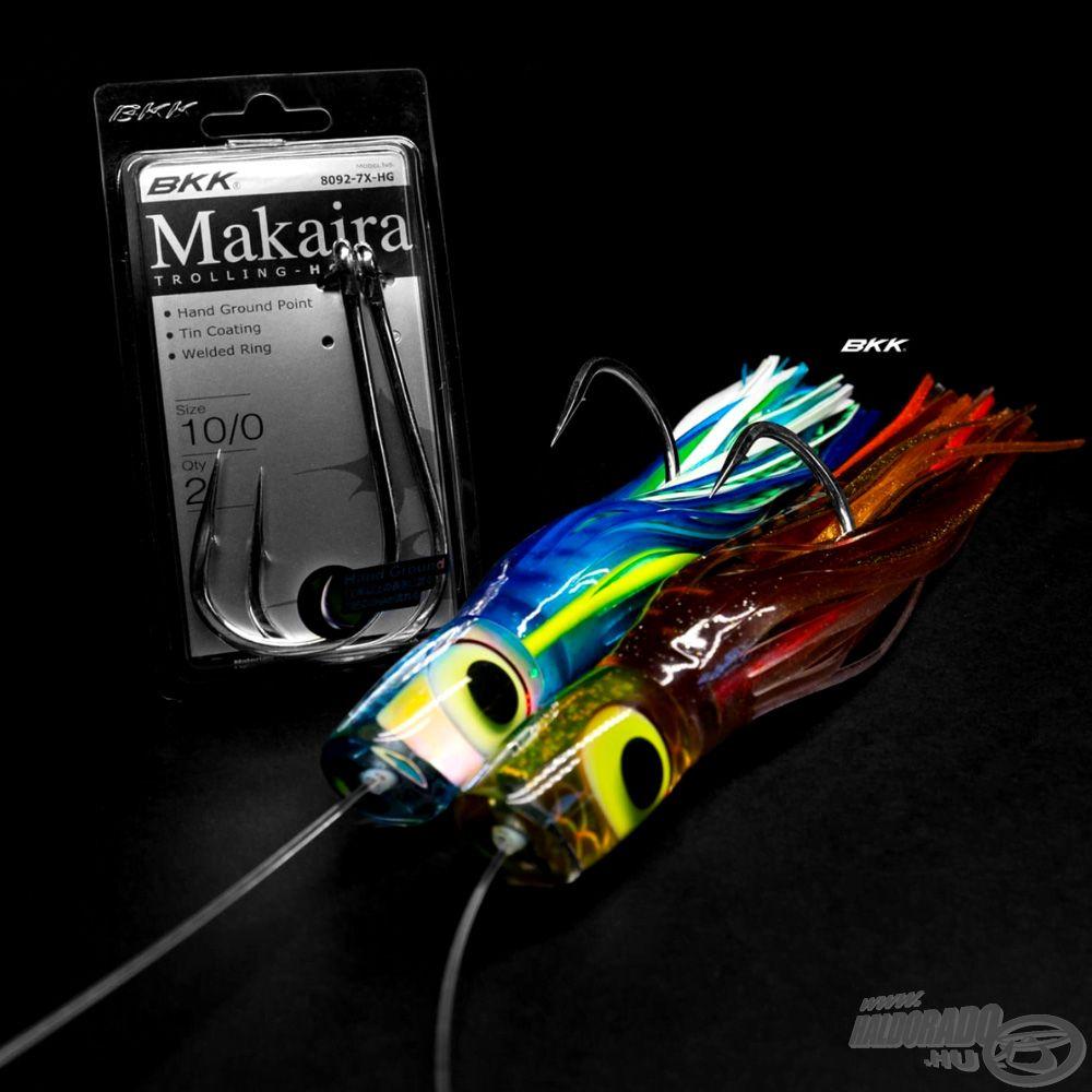 A BKK Makaira Trolling HD horgot kifejezetten a tengeri horgászathoz tervezték