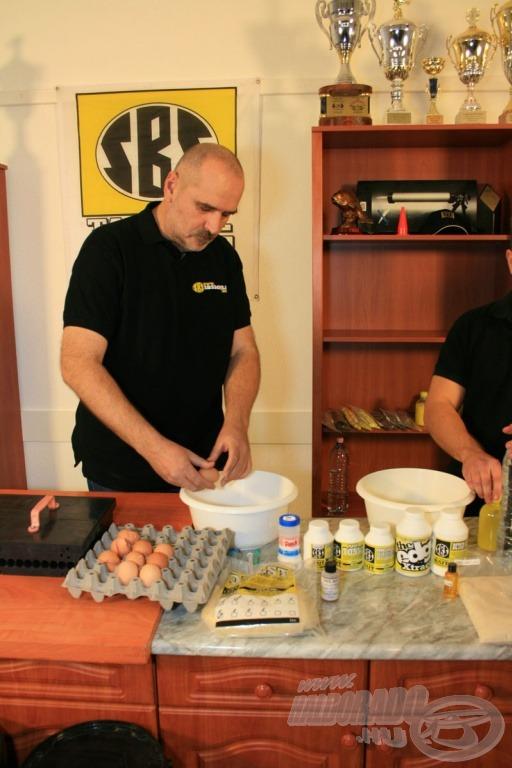 Feltöritek a főzött bojli receptjéhez a tojásokat