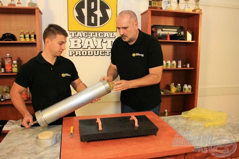Ez a pisztoly képes egyszerre bő 3 kg massza befogadására!