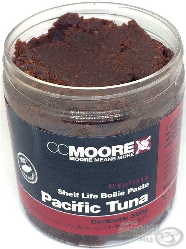 Ez a mélyvörös színű, természetesen vonzó paszta gyakorlatilag tökéletesen megegyezik azzal, amiből Pacific Tuna Shelf Life bojlik készülnek