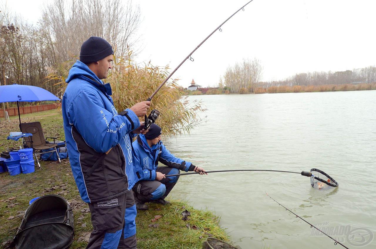 A szeszélyes, esősre váltó időjárás nem tolta el rossz irányba a halak kapókedvét, így egymást követték a fárasztások