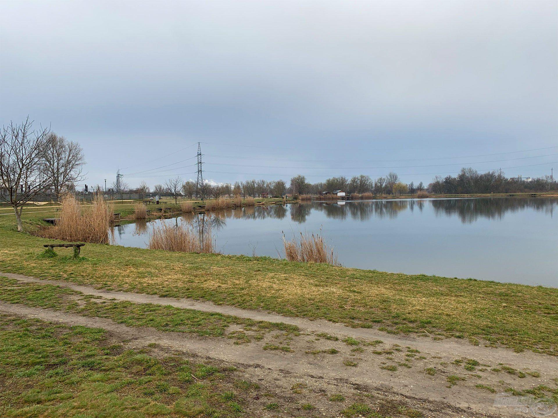 Íme, a Palotavárosi Felső-tó