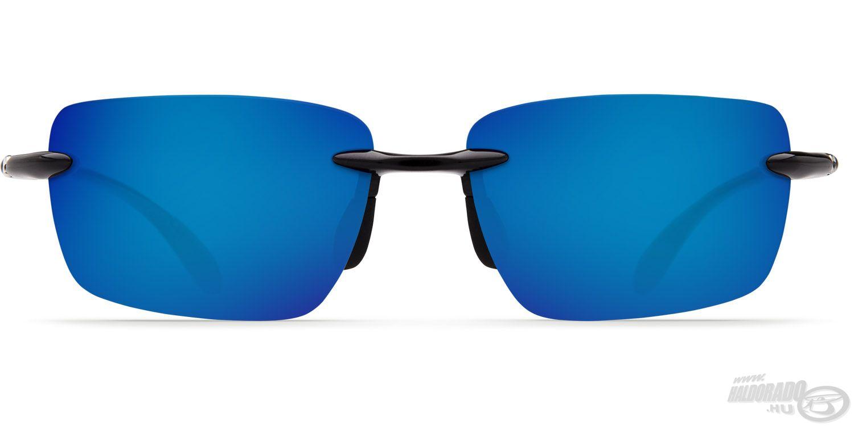 A vékony kerethez is szépen passzol a kék tükörbevonatos lencse