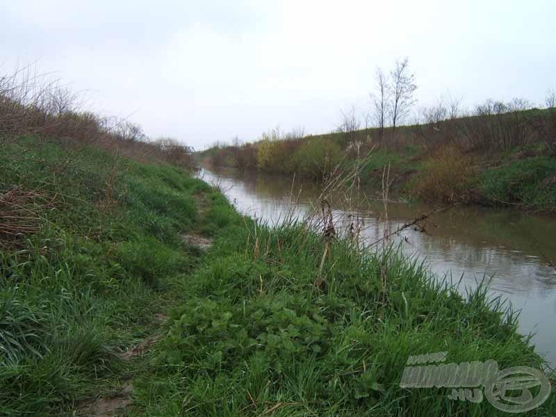 A Kapos folyó kicsit magasabb vízállásnál
