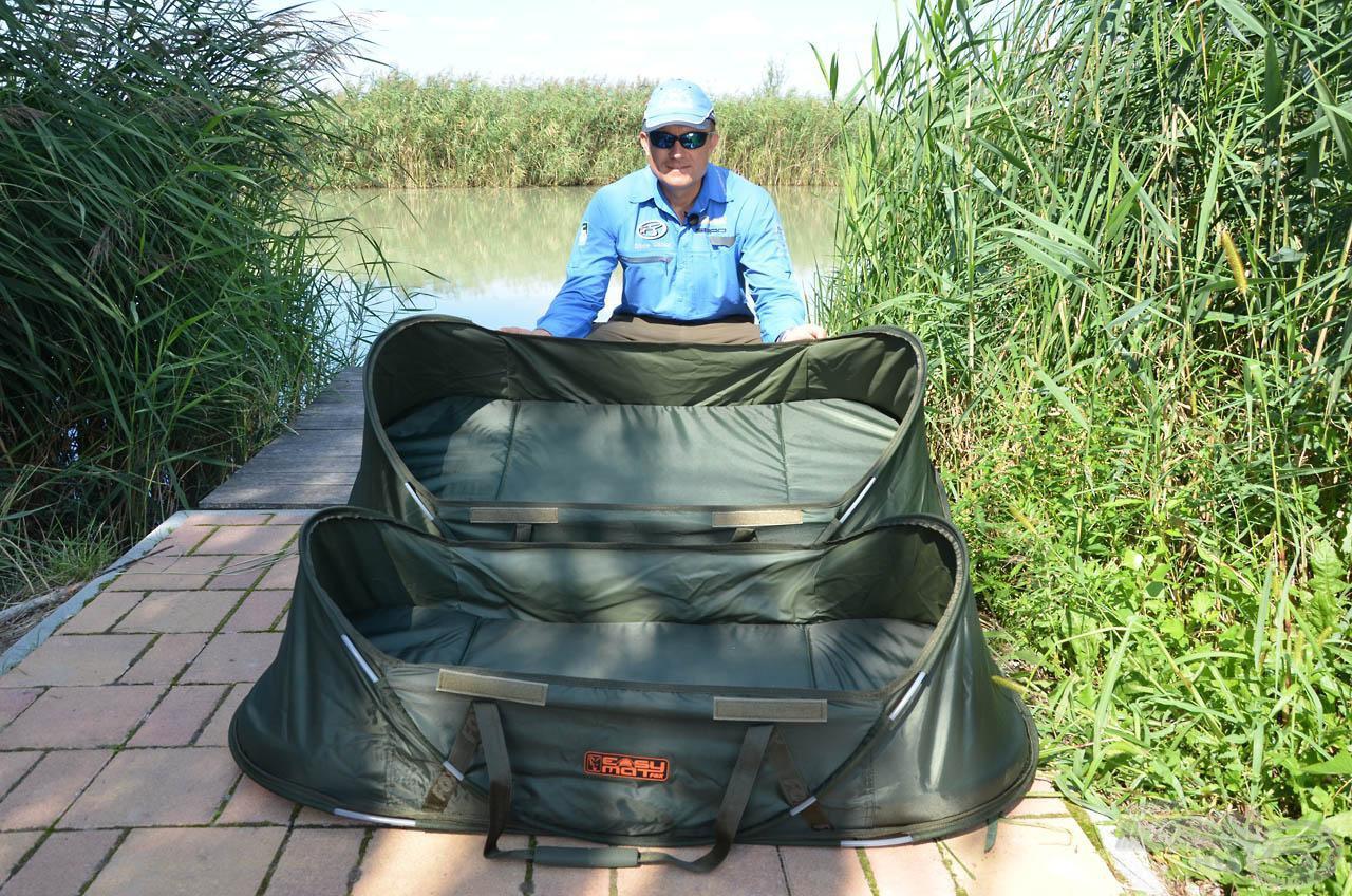 A Fox Easy Mat standard mérete feederbotos horgászoknak való, míg az XL-es igazi gigászi darab