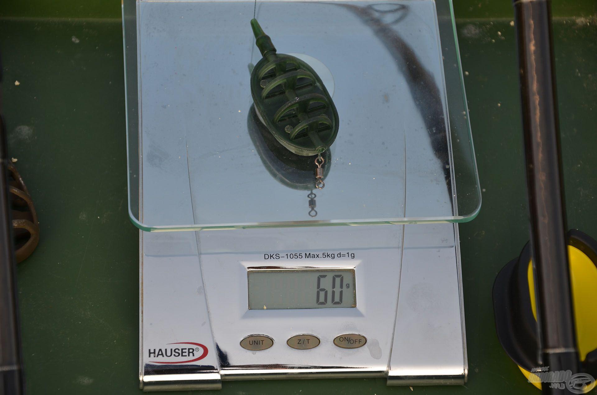 Üresen 60 g az Inline Method kosár