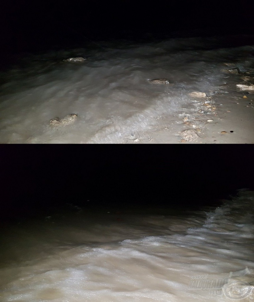 A viharos erejű szél hatalmas hullámokat korbácsolt a Duna vizére…
