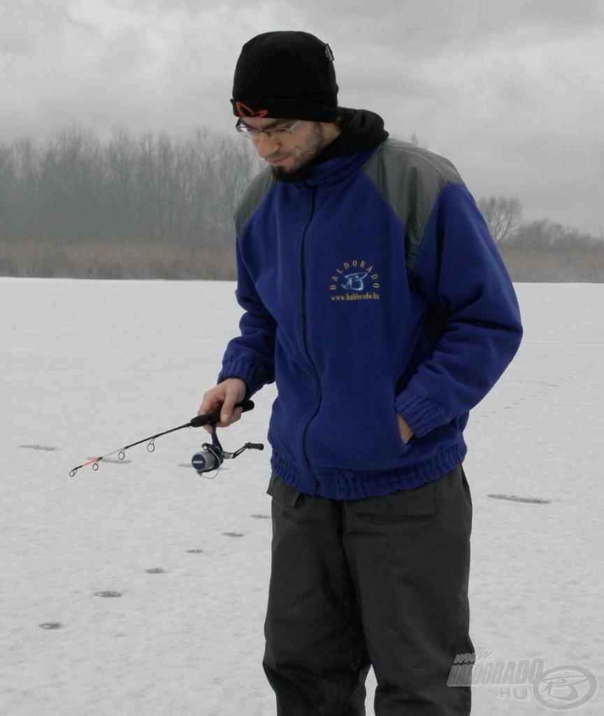 Kontrollált csalivezetés a jég alatt