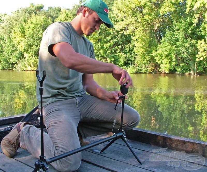 Ha amurozásról van szó, Gábor csupán egy bottal horgászik
