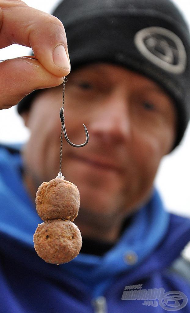 A dupla 20-as, süllyedő, főzött (de előre beáztatott) golyók adták a legnagyobb halakat