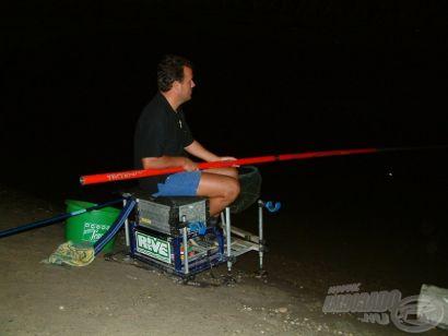 Éjszakai horgászat a Dunán