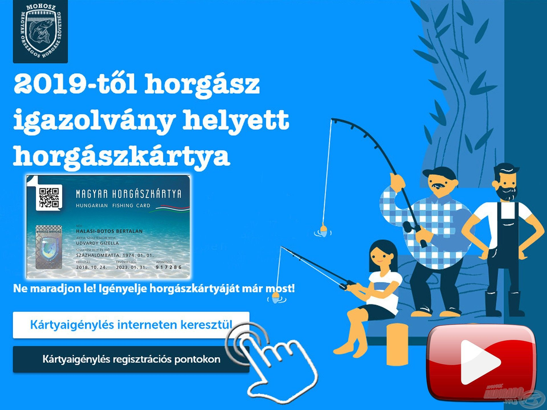 Elindult a Magyar Horgászkártyák legyártása, Te regisztráltál már? – Segítünk!