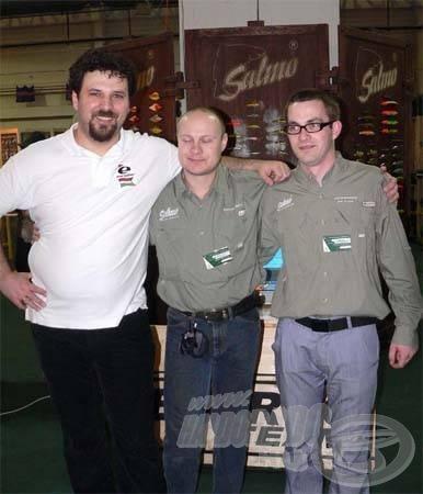 Az Energofish Kft. ügyvezetője Pál István (bal oldalt) méltán lehet büszke remek csapatára és a jól sikerül kiállításra!