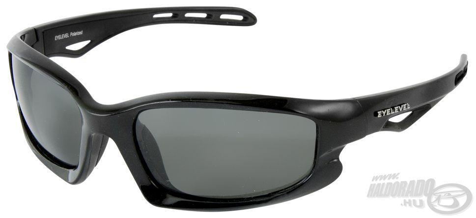 A Castaway sportos formájú, fekete kerettel rendelkezik, mely jól körülöleli szemgödrünket