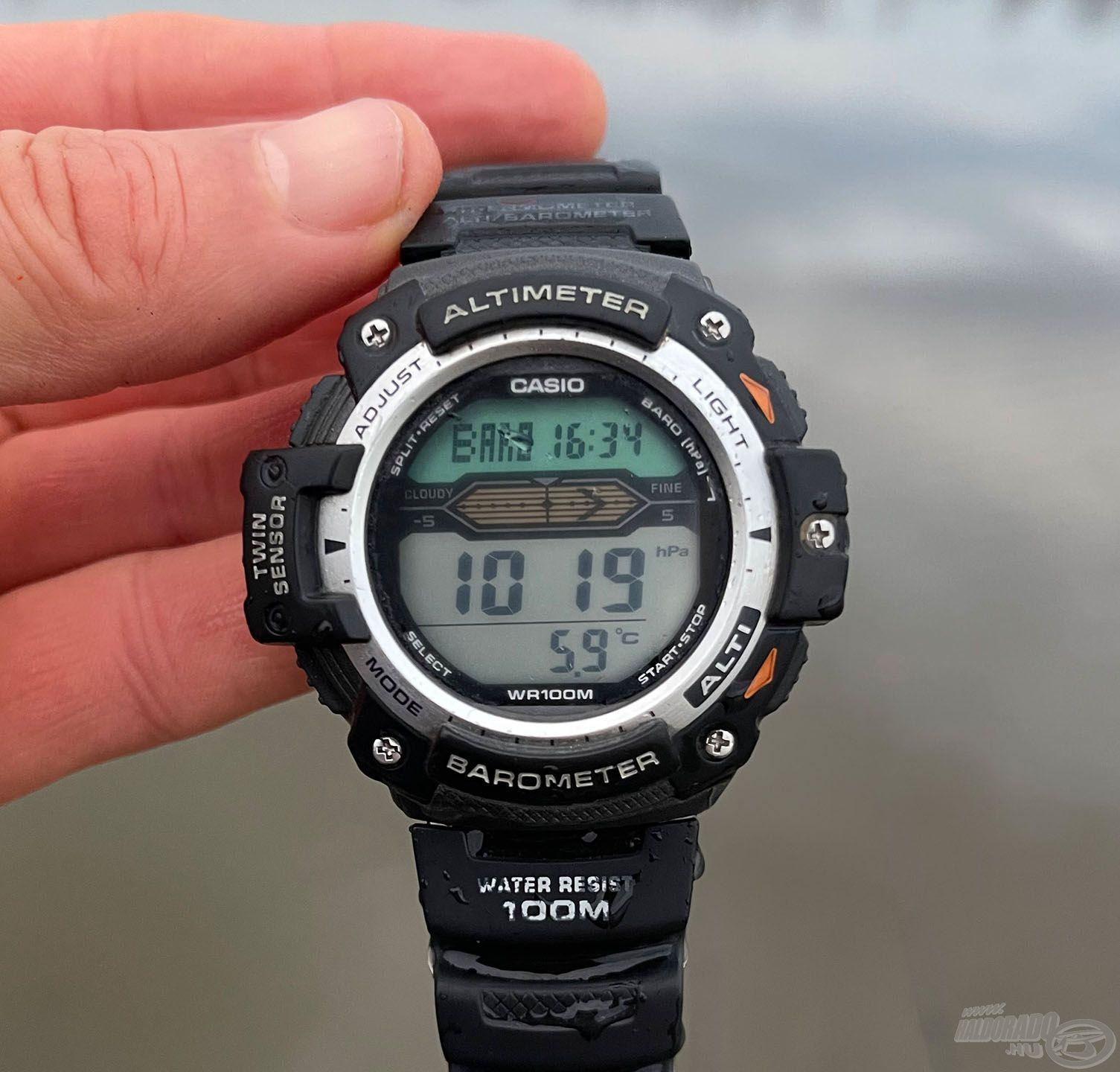Ezen a napon 5,9 Celsius-fok volt a víz hőmérséklete