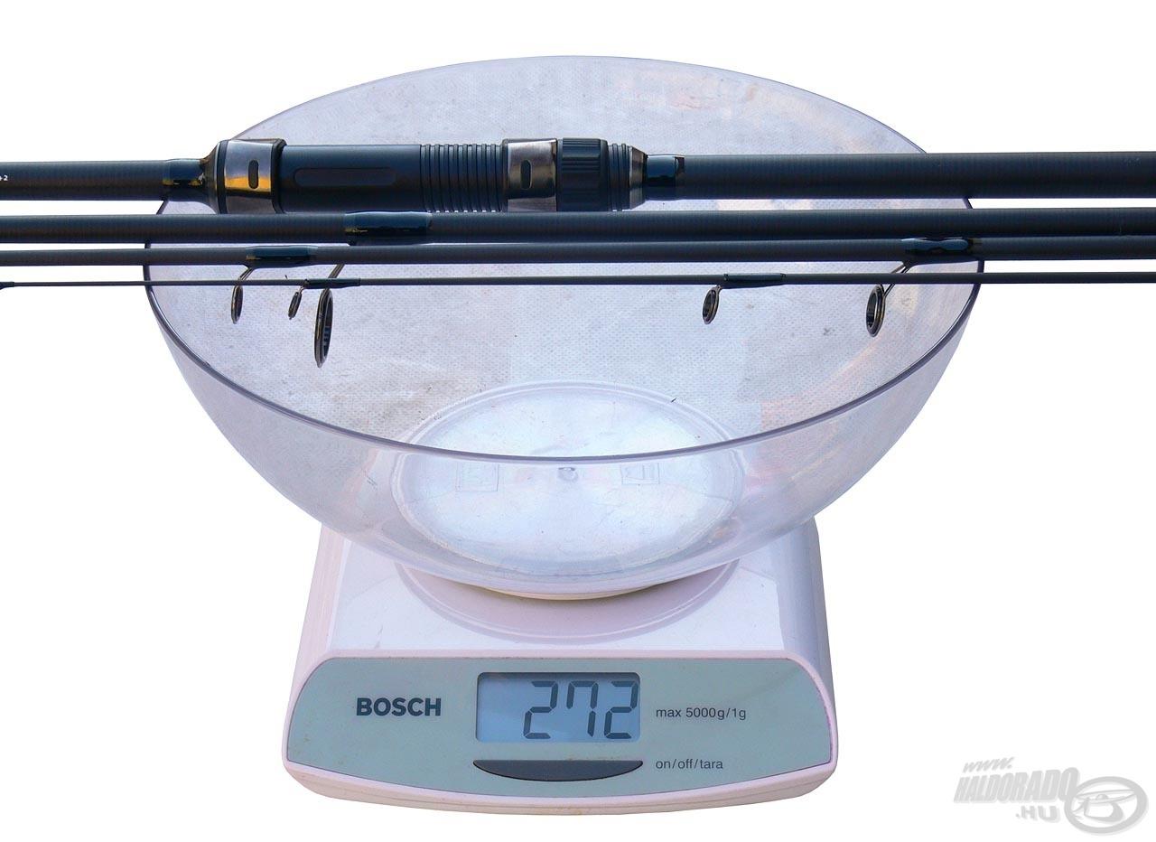 Akár feeder, akár bojlis változatban használjuk a botot, egyaránt 272 grammot nyom