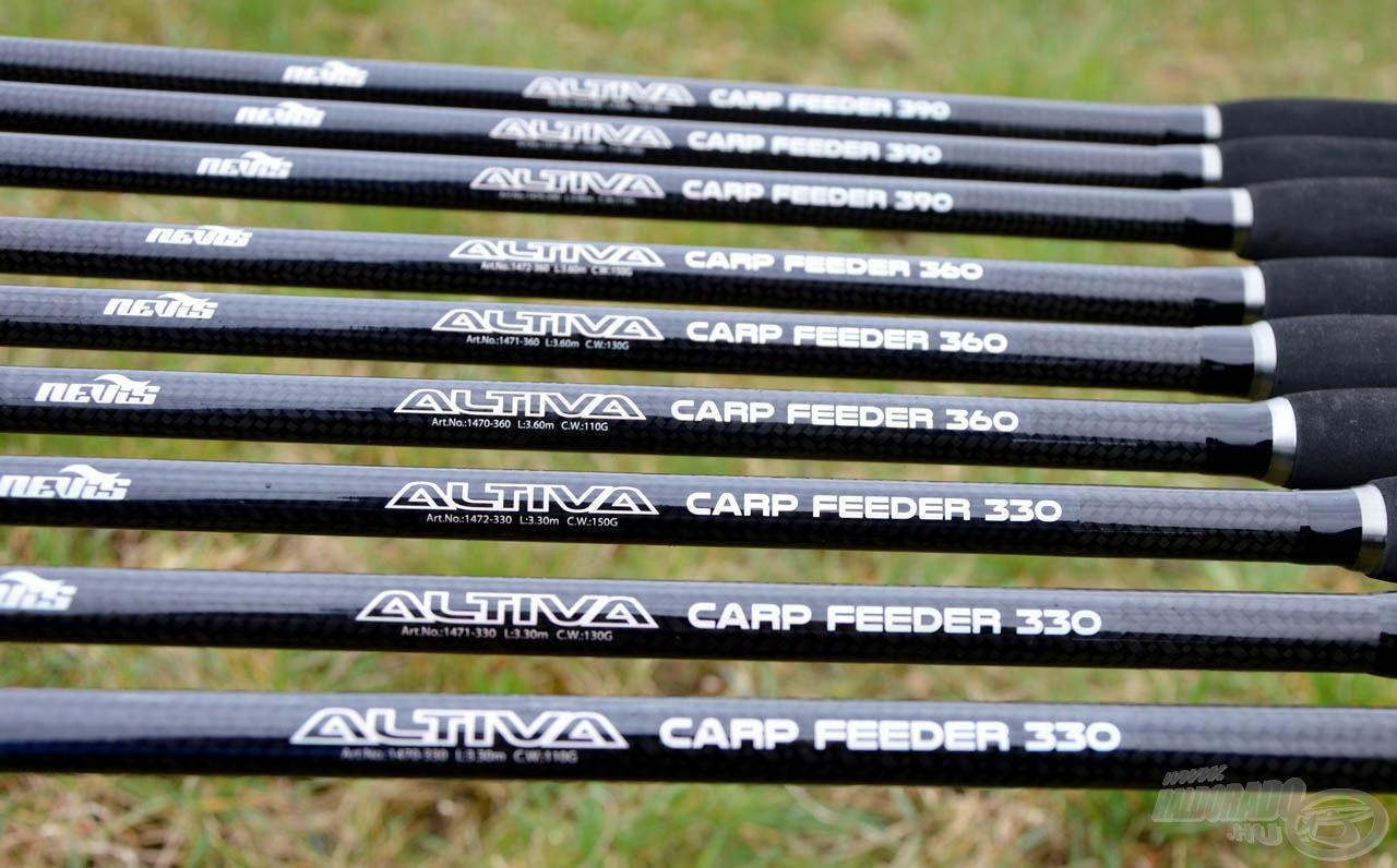 Az Altiva Carp Feeder család kilenc tagból áll