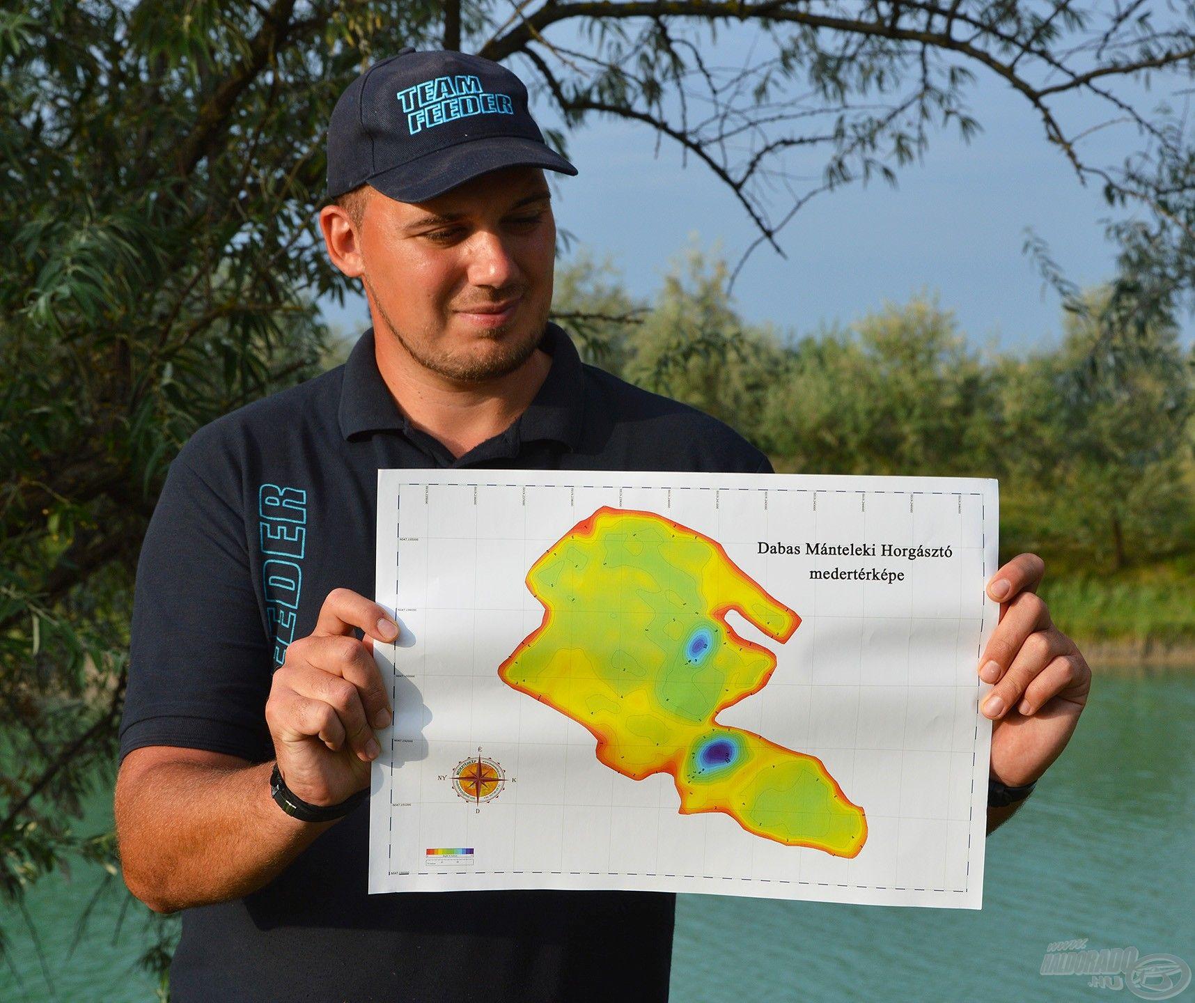 A tóról készült egy komplett medertérkép, amit kinyomtatott formában lehet kérni a halőrháznál. Rengeteg hasznos infót kaphatnak ezzel a horgászok!