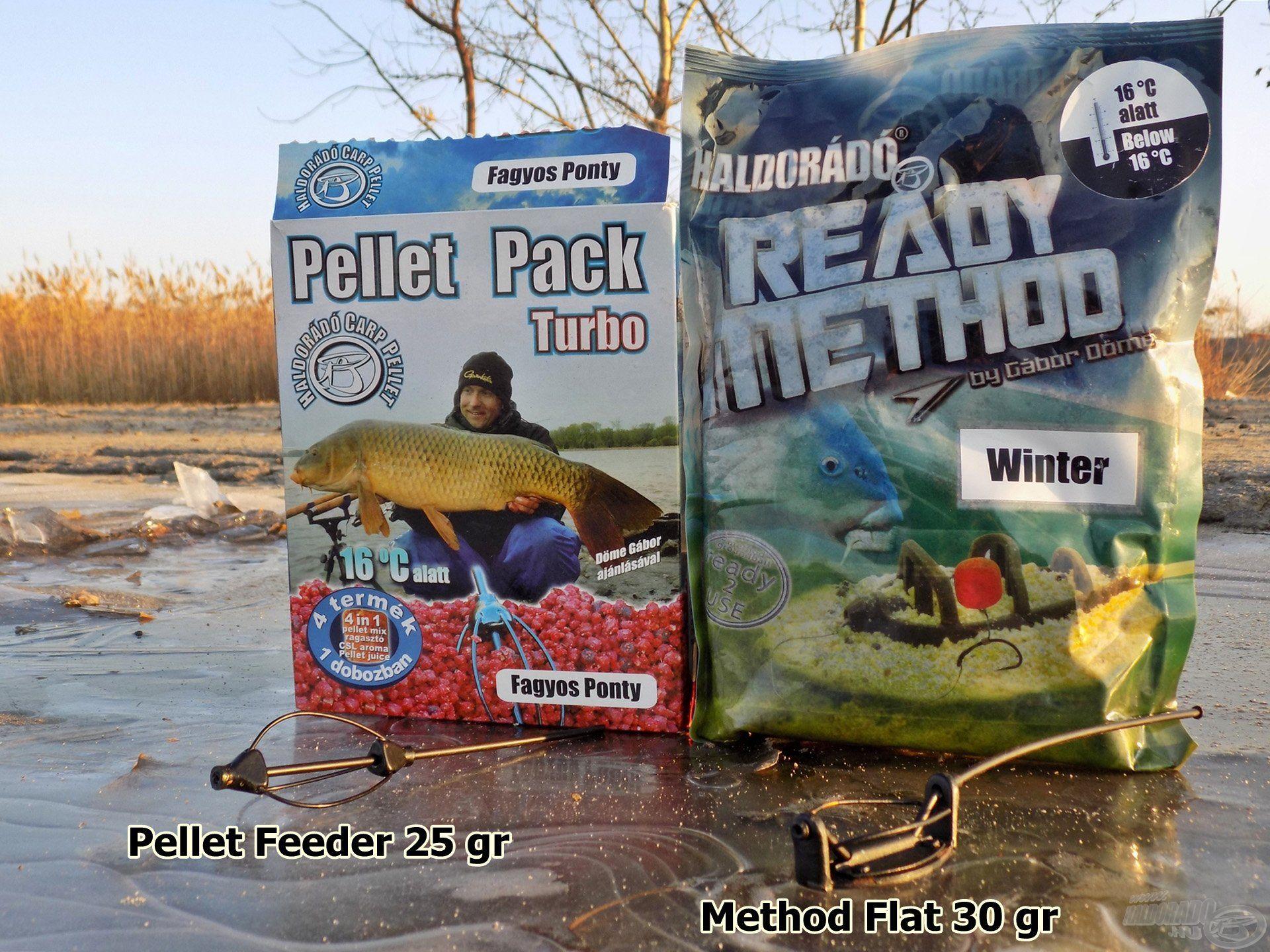 Pellet Pack - Fagyos Ponty / Ready Method - Winter 1:1 arányban keverve. Ez a darabos mix az emberi orr számára is nagyon kellemesen alkoholos, halas-gyümölcsös zamatú és tartalmaz minden olyan csemegét, ami a pontyoknak szükséges ebben az időszakban