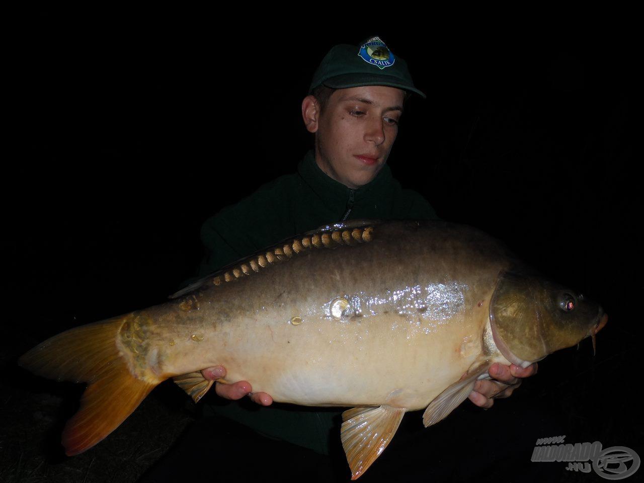 Parton az éjszaka legnagyobb hala, mely 8,2 kg-os volt