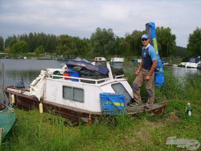 Feederbottal a Tisza-tavon