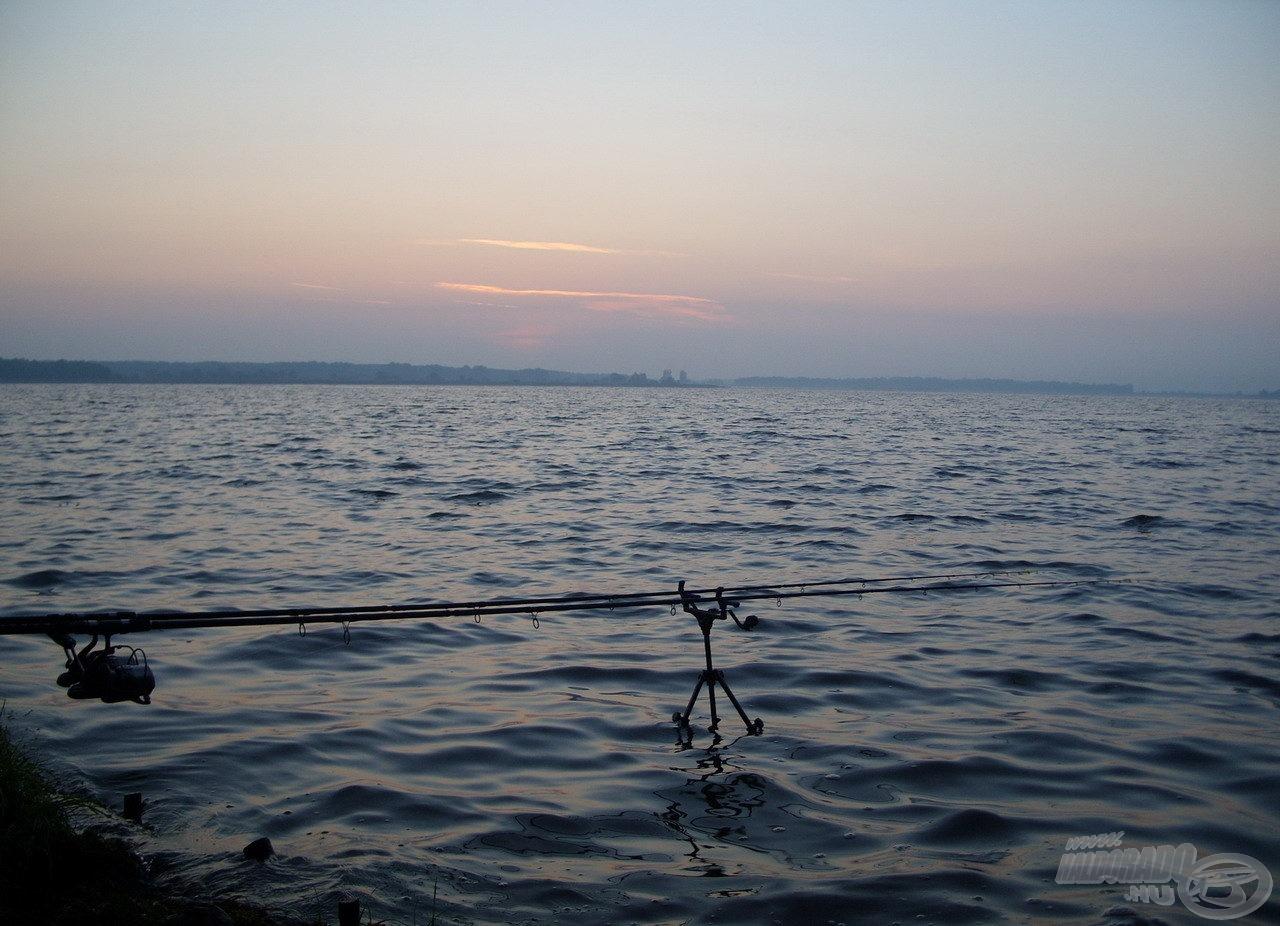 Ahogy kivilágosodott, úgy ritkultak meg a kapások, úgy szűnt meg a halak aktivitása