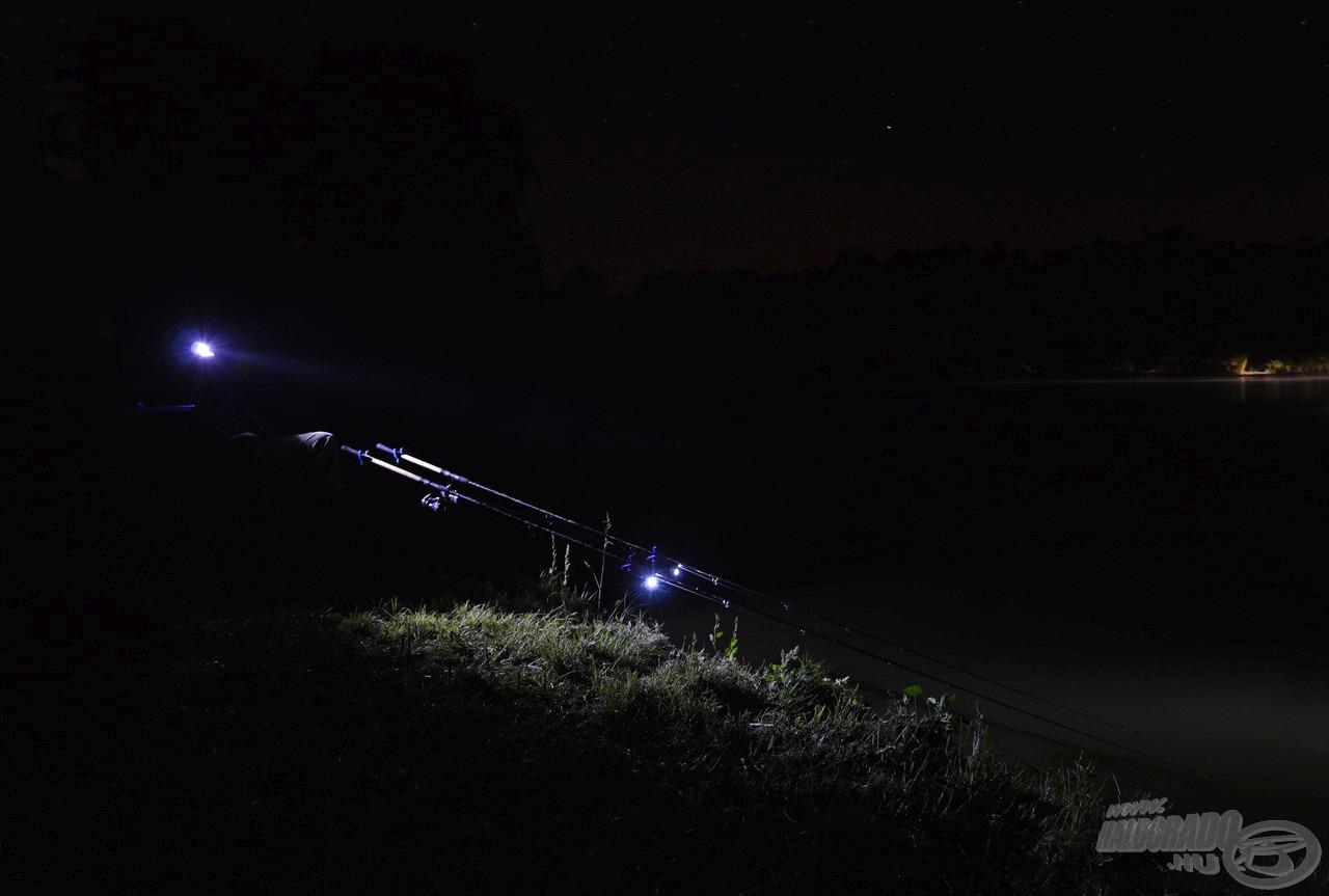 Az éjszaka óráiban is folyamatosan kerestem a halakat
