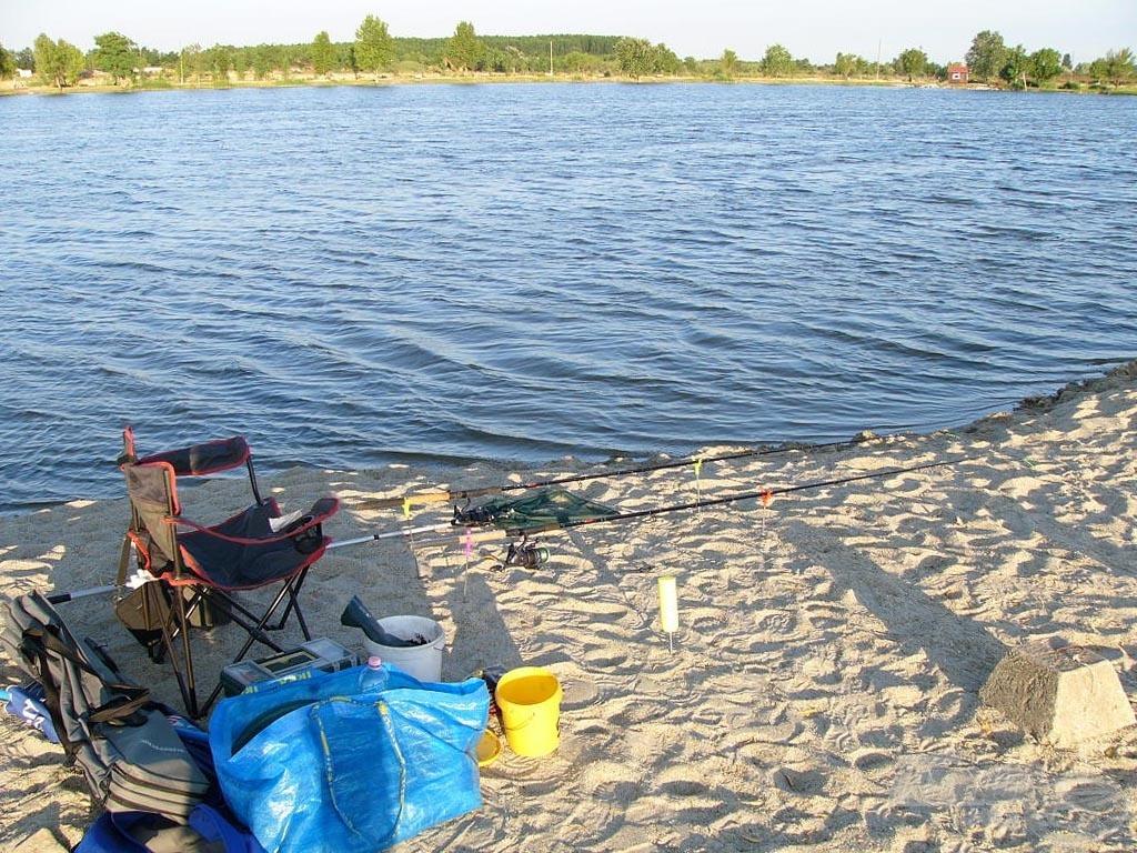 Az elrendezett horgászhely