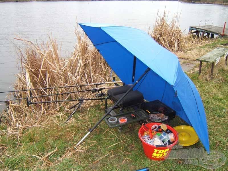 Praktikusan berendezett horgászállásom