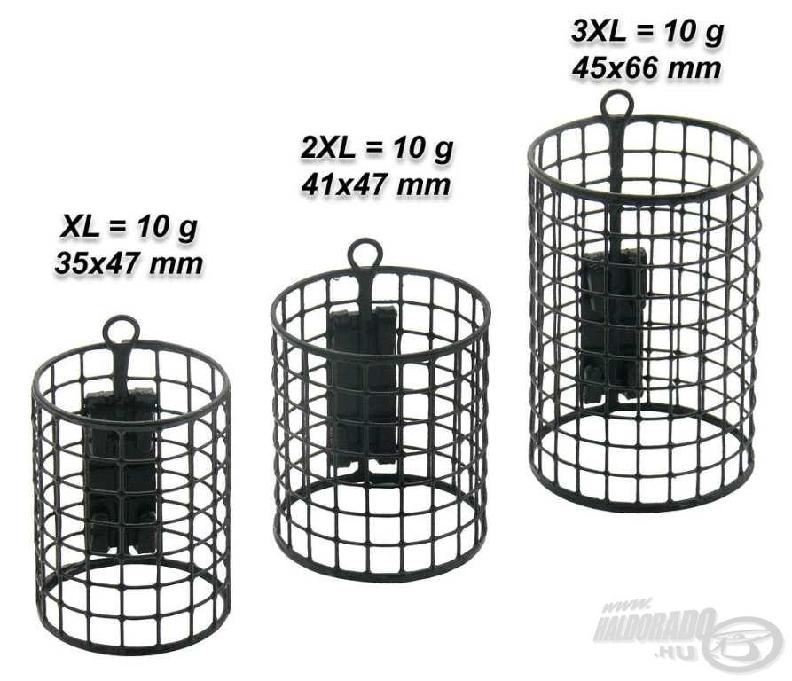 A Special Round Feederkosarak nagyobb átmérőjű változatai az XL-es kosarak