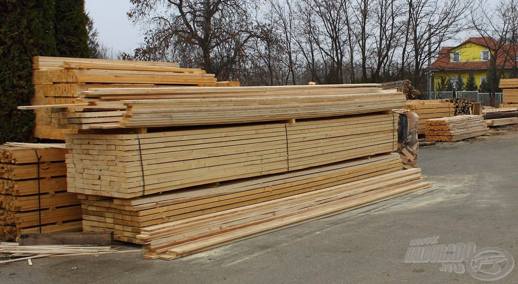 A jó faanyag beszerzése sem volt egyszerű feladat
