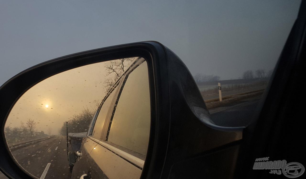 Nem volt nagy forgalom az utakon, talán a hideg miatt