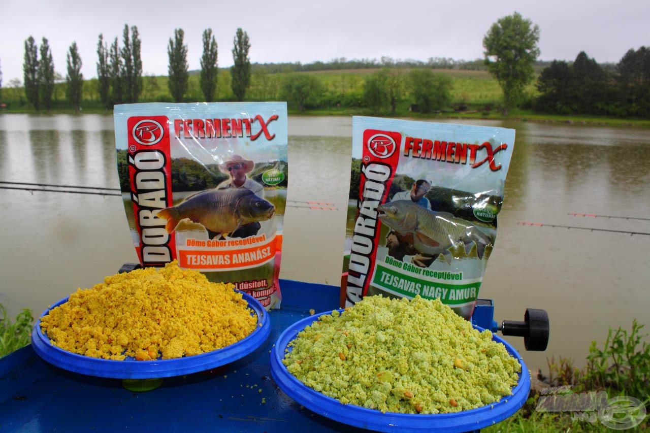 A FermentX Tejsavas Ananász és Tejsavas Nagy Amur remek meleg vízi csalogatóanyagok