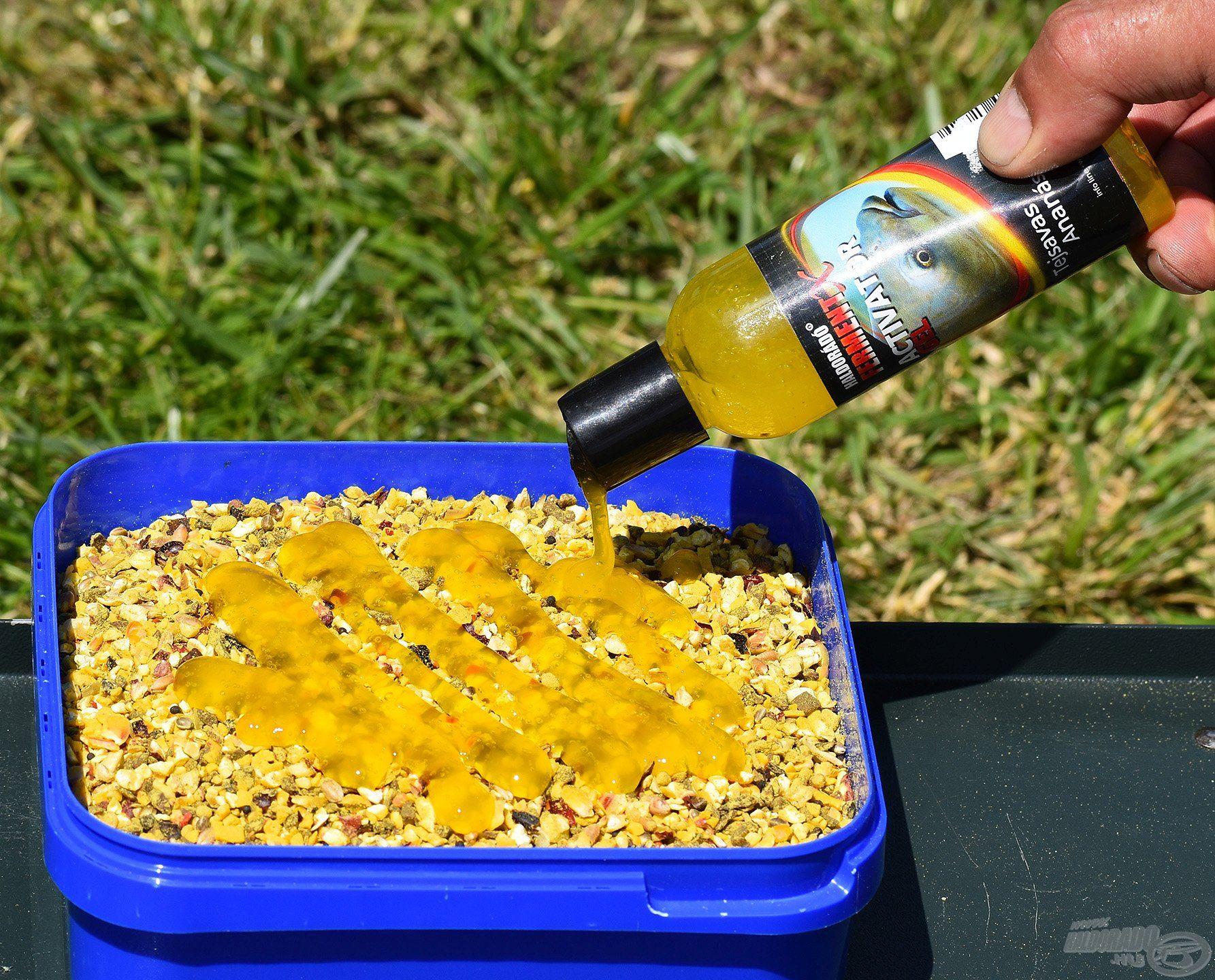Elsőként a száraz Record Carp Stick Mixhez nyomtam némi FermentX Activator Gel - Tejsavas Ananász aromát