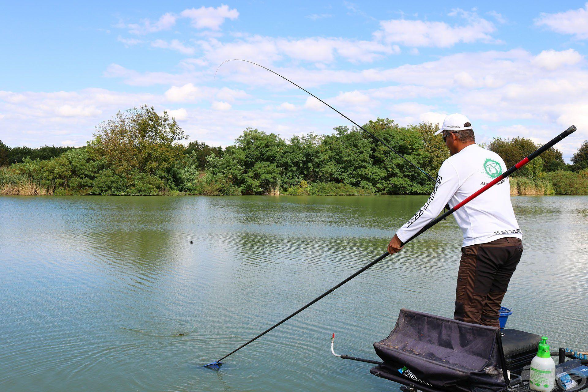 Nagyon mozgalmas, szórakoztató horgászat ez!