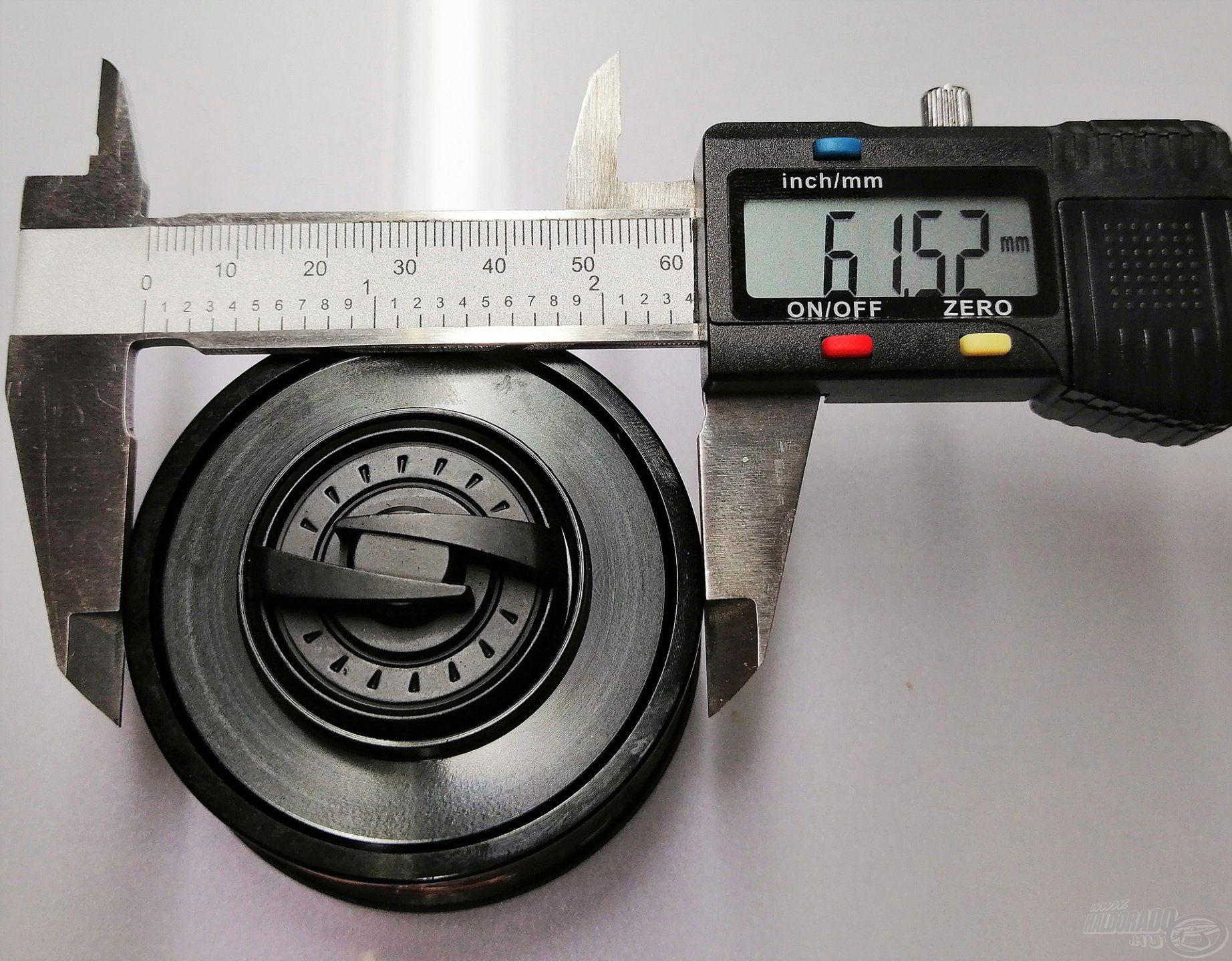 A számok magukért beszélnek: a 6000-es méretű orsó 60 mm fölötti dobátmérővel rendelkezik!