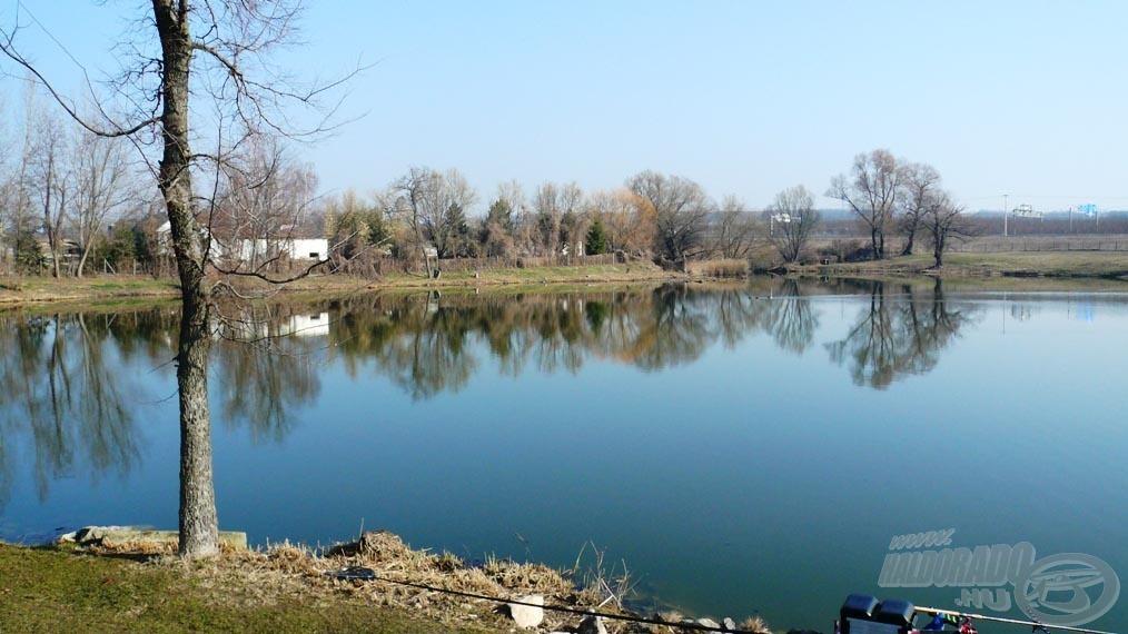 A tó hátsó része