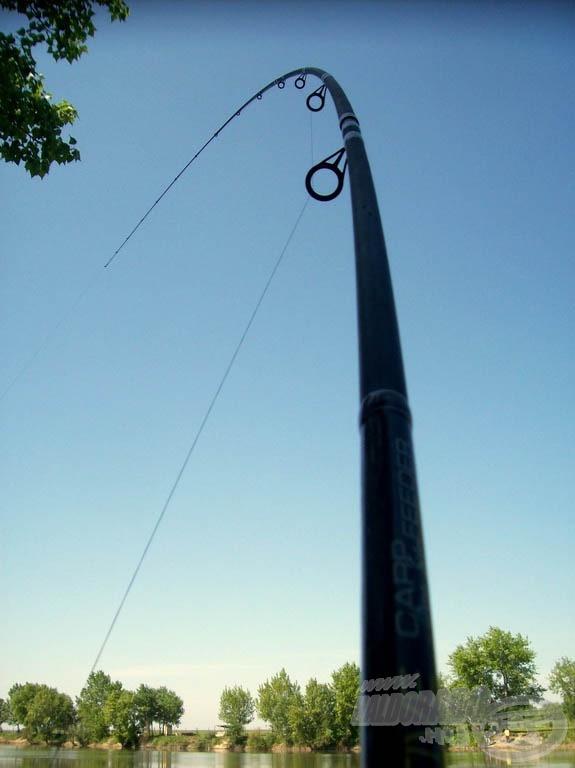 A nap folyamán sokszor görbültek horgászbotjaink