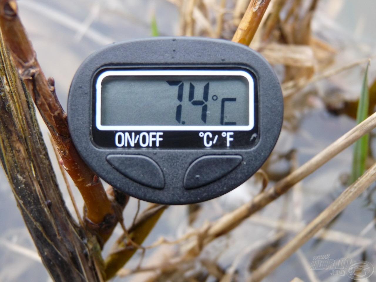 A víz hőmérséklete a szélvizekben kora délutánra elérte a 7,4 Celsius-fokot