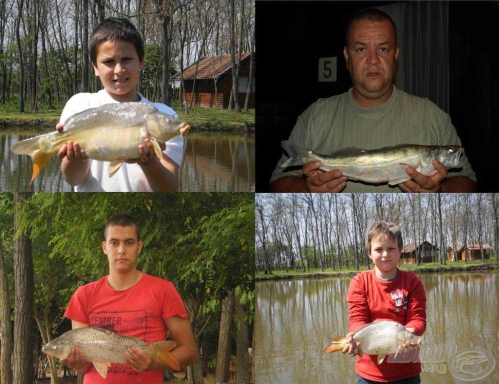 Apa és fiai: Dani, Szilárd, Richárd