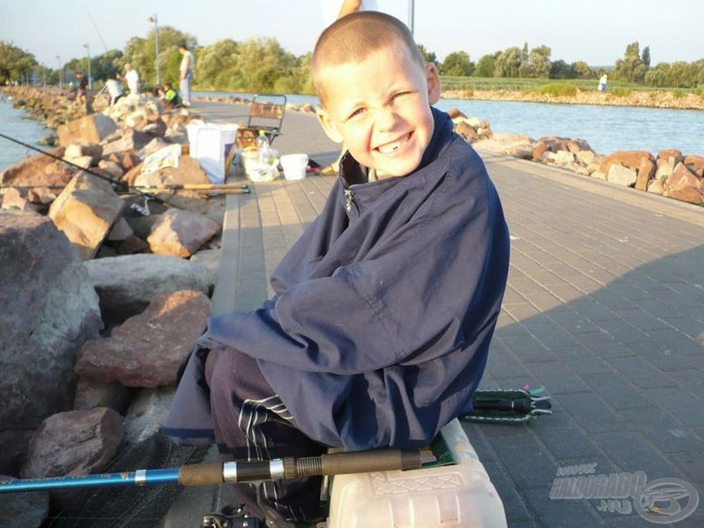 Balatoni horgászat 5 évesen