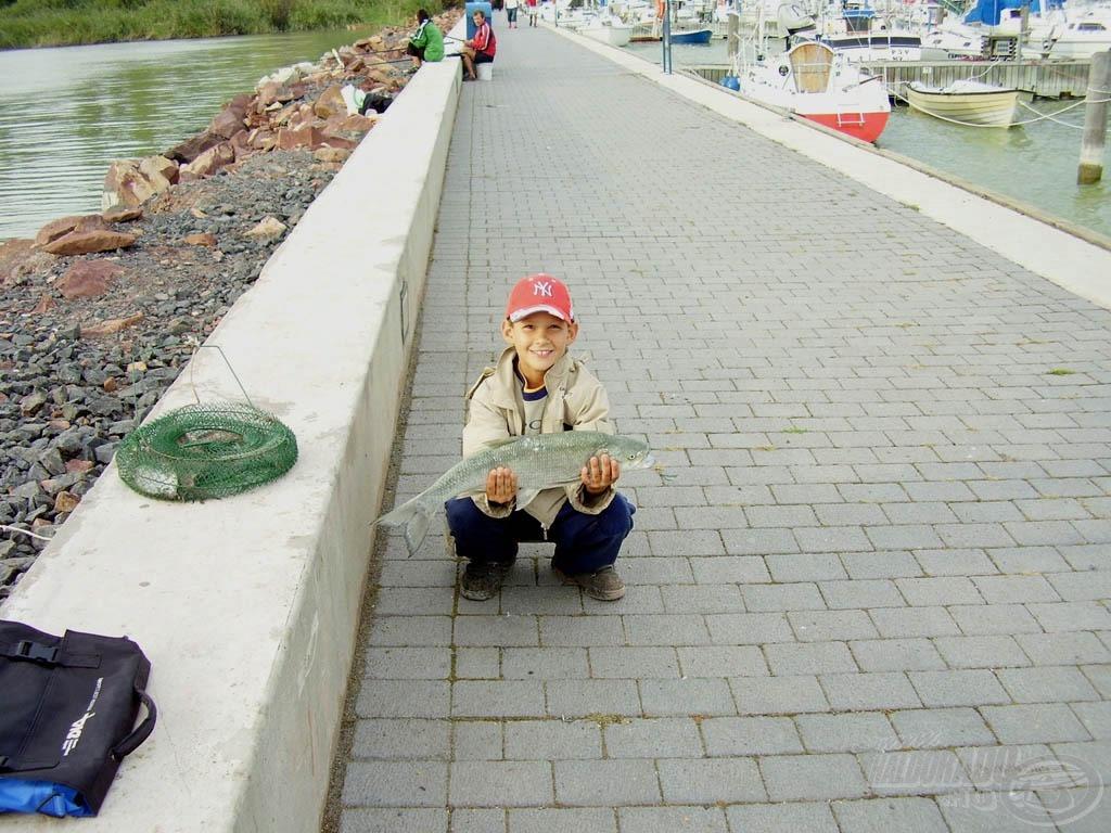 2006-ban már eredményesen kergette a halakat András
